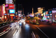 Las Vegas Night scene royalty free stock photography