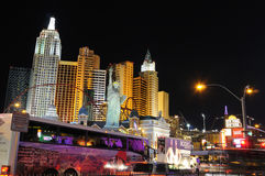 Las Vegas night street scene stock photo
