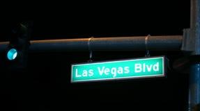 Las Vegas night time. Las Vegas Blvd stock photography