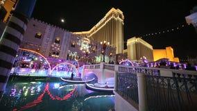 Las Vegas Night Time stock video