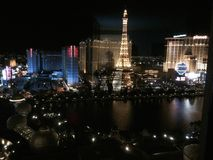 Las Vegas by Night Stock Photography