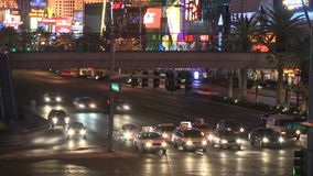 Las Vegas Night Traffic - Time lapse - Clips 9 of 12. Time Lapse of the Las Vegas strip at night. Shot with a Sony EX3 stock footage
