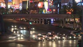 Las Vegas Night Traffic - Time lapse - Clips 9 of 12 stock footage