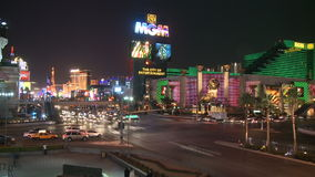 Las Vegas Night Traffic - Time lapse - Clips 2 of 12 stock video footage