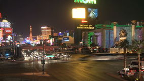 Las Vegas Night Traffic - Time lapse - Clips 10 of 12. Time Lapse of the Las Vegas strip at night. Shot with a Sony EX3 stock footage