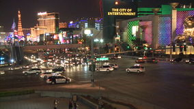 Las Vegas Night Traffic - Time lapse - Clips 12 of 12. Time Lapse of the Las Vegas strip at night. Shot with a Sony EX3 stock footage