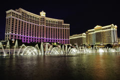 Las Vegas nightime Royalty Free Stock Photo