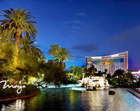 Las Vegas Nightlife. Nightlife in the Las Vegas City. Mirage - Polynesian-themed resort and casino. Nevada Stock Photo