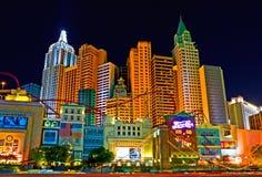 las Vegas noc fotografia stock