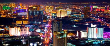 las Vegas noc Obraz Royalty Free