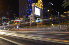 Las Vegas. Noturne view of the famous Strip, Las Vegas Boulevard, Clark County, Nevada, US Stock Photos