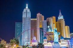 Las Vegas Nowy Jork hotel Obrazy Stock