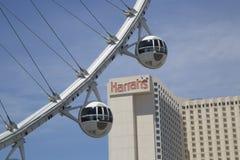 Las Vegas nowy przyciąganie Wysokiego rolownika Ferris koła kabiny Obraz Royalty Free