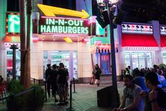 In-N-Out Burger at the Linq in Las Vegas. royalty free stock photos