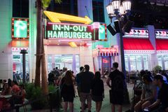 In-N-Out Burger at the Linq in Las Vegas. Stock Image