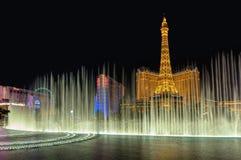 Las Vegas, NV - CIRCA MAART 2015 - Fontein Bellagio op de Strook van Las Vegas, Nevada, circa Maart 2015 Stock Afbeelding
