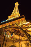 Las Vegas, NV - CIRCA MARCH 2015 -Replica of the Eiffel Tower night illumination in Las Vegas, Nevada, circa March 2015. Stock Image