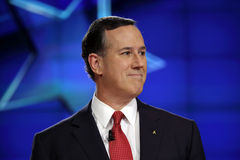 LAS VEGAS, NV, Dec 15, 2015, Republican presidential candidate former US Senator Rick Santorum during the CNN presidential debate. At The Venetian Las Vegas royalty free stock images