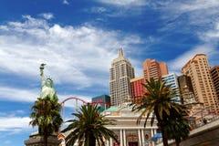 New York - New York hotell & kasino Arkivbild