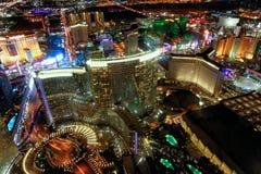 LAS VEGAS, NV - JUNE 30, 2018: Aerial night view of Strip Casino royalty free stock images