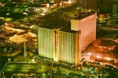 LAS VEGAS, NV - 29 JUNI, 2018: Het satellietbeeld van de het Casinonacht van het circuscircus Las Vegas is genoemd geworden Sin C stock fotografie