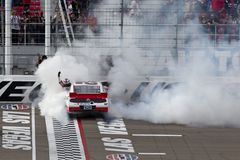 NASCAR:  Sam Hornish Jr Burnout Royalty Free Stock Images
