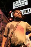 Zach Galifianakis wax figure with movie set. LAS VEGAS NV - Oct 09 2017: Zach Galifianakis wax figure with movie set from HANGOVER movie at Madame Tussauds Stock Images
