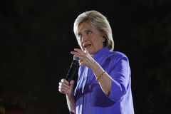 LAS VEGAS, NV - OCTOBER 14, 2015: Hillary Clinton, former U.S. secretary of state and 2016 Democratic presidential candidate, spea Stock Image
