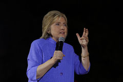 LAS VEGAS, NV - OCTOBER 14, 2015: Hillary Clinton, former U.S. secretary of state and 2016 Democratic presidential candidate, spea royalty free stock image