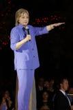 LAS VEGAS NV - OKTOBER 14, 2015: Hillary Clinton gamla U S utrikesminister och 2016 demokratiska presidentkandidat, spea Royaltyfria Foton