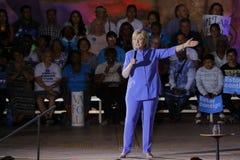 LAS VEGAS, NV - 14 OKTOBER, 2015: Hillary Clinton, vroeger U S Staatssecretaris en de Democratische presidentiële kandidaat van 2 Royalty-vrije Stock Foto