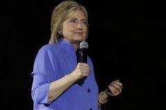 LAS VEGAS, NV - 14 OKTOBER, 2015: Hillary Clinton, vroeger U S Staatssecretaris en de Democratische presidentiële kandidaat van 2 Royalty-vrije Stock Foto's