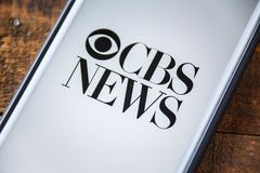 LAS VEGAS, NV - September 22. 2016 - CBS News App On Apple iPhon Royalty Free Stock Photos