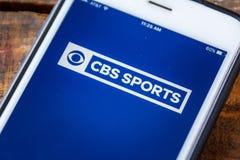 LAS VEGAS, NV - September 22. 2016 - CBS Sports App On Apple iPh Royalty Free Stock Photos