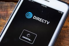 LAS VEGAS, NV - September 22. 2016 - DIRECTV App On Apple iPhone royalty free stock photo