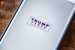 LAS VEGAS, NV - September 22. 2016 - Donald Trump Mike Pence App stock photography