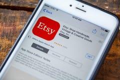 LAS VEGAS, NV - 22 September 2016 - Etsyiphone App in Appl Royalty-vrije Stock Afbeeldingen