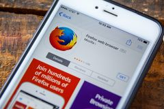 LAS VEGAS, NV - September 22. 2016 - Mozilla Firefox iPhone App stock photos