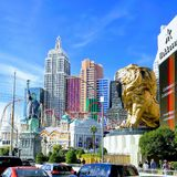 Las Vegas NV The Strip Turismo royalty free stock images