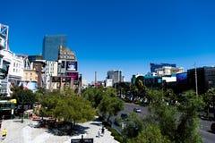 Las Vegas NV, USA 09032018: bedöva sikten av remsan i morgonen royaltyfri foto