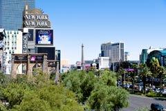 Las Vegas NV, USA 09032018: bedöva sikten av remsan i morgonen royaltyfria foton