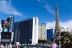 Las Vegas NV, USA 09032018: bedöva sikten av remsan i morgonen arkivfoton