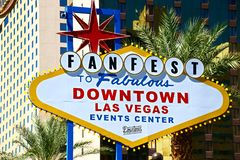 Fanfest Downtown Las Vegas sign royalty free stock images