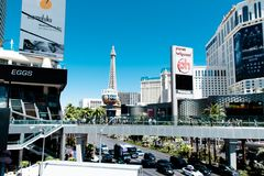 Las Vegas, NV, USA 09032018: stunning view of the strip in the morning stock image