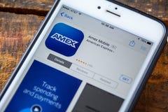 LAS VEGAS, NV - Wrzesień 22 2016 - American Express AMEX iPhon Obrazy Stock