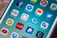 LAS VEGAS, NV - Wrzesień 22 2016 - Kredytowa karmy App ikona Na Ap Obraz Stock