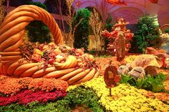 Fall season in Bellagio Hotel Conservatory & Botanical Gardens Stock Photo