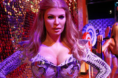Waxwork of Shania Twain at The Madame Tussauds museum in Las Vegas. LAS VEGAS - OCT 28 : A waxwork of Shania Twain at The Madame Tussauds museum in Las Vegas on Stock Images