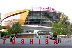 The T-Mobile arena in Las Vegas Stock Photos