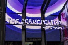 Las Vegas - Około Grudzień 2016: Kosmopolita Las Vegas Kosmopolita jest kurortu hotelem na pasku i kasynem Ja fotografia stock